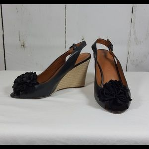 Franco Sarto Espadrille Wedges with Flower